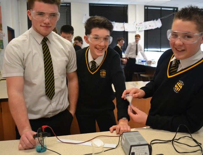 George, Fraser and Luke during Science Immersion Day