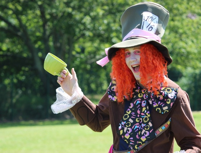 Mr Johnson as the Mad Hatter