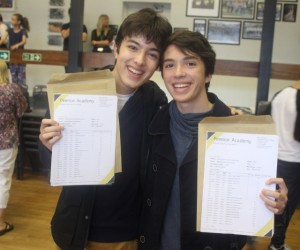 Sam and Mathew open their results