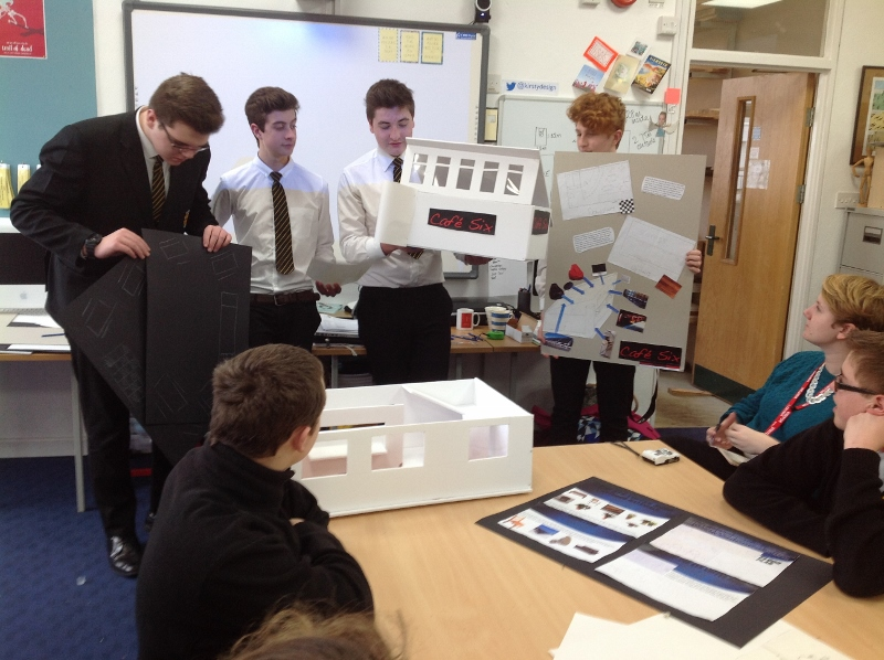 Year 10s show their work at Accessing Architecture Day