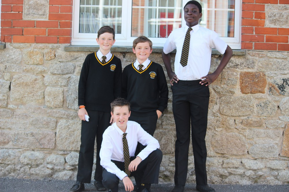 Penrice Boys in in smart uniform