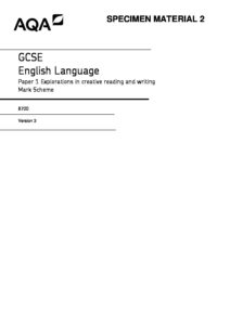 Past Papers - English Language Paper 1 Mark scheme - Penrice Academy