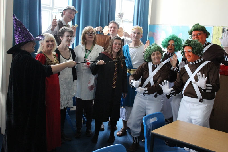 Staff dress up for World Book Day