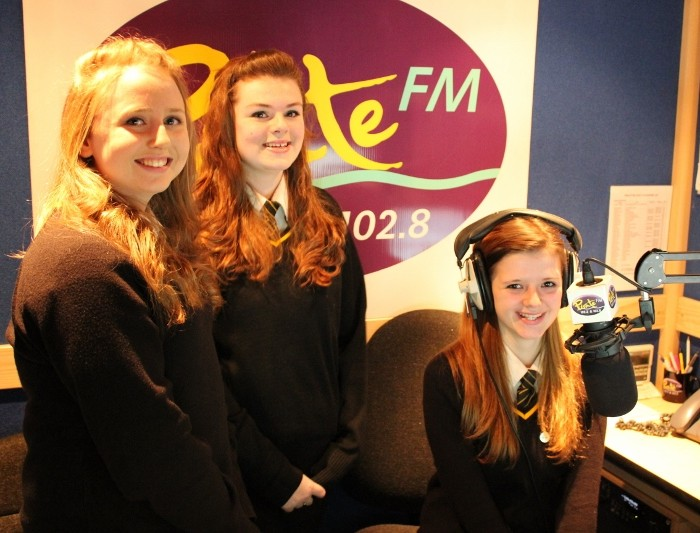Penrice Students recording at Pirate FM Studios