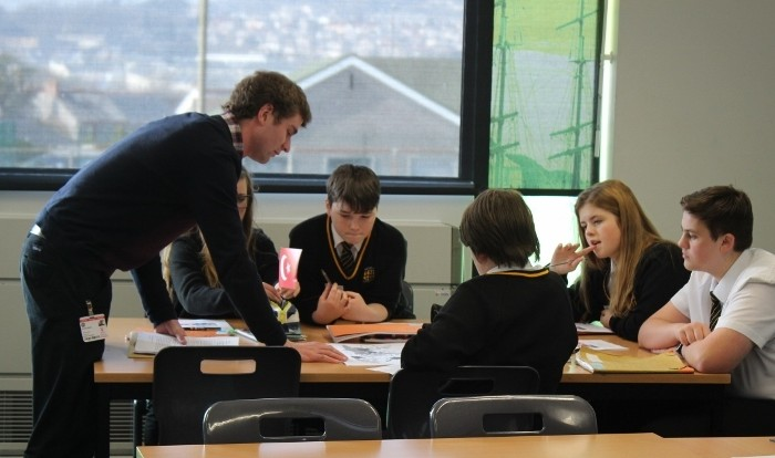 Exeter University students work with Penrice students