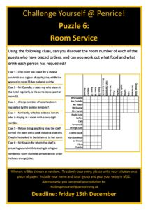 Puzzle 6 Room Service Penrice Academy