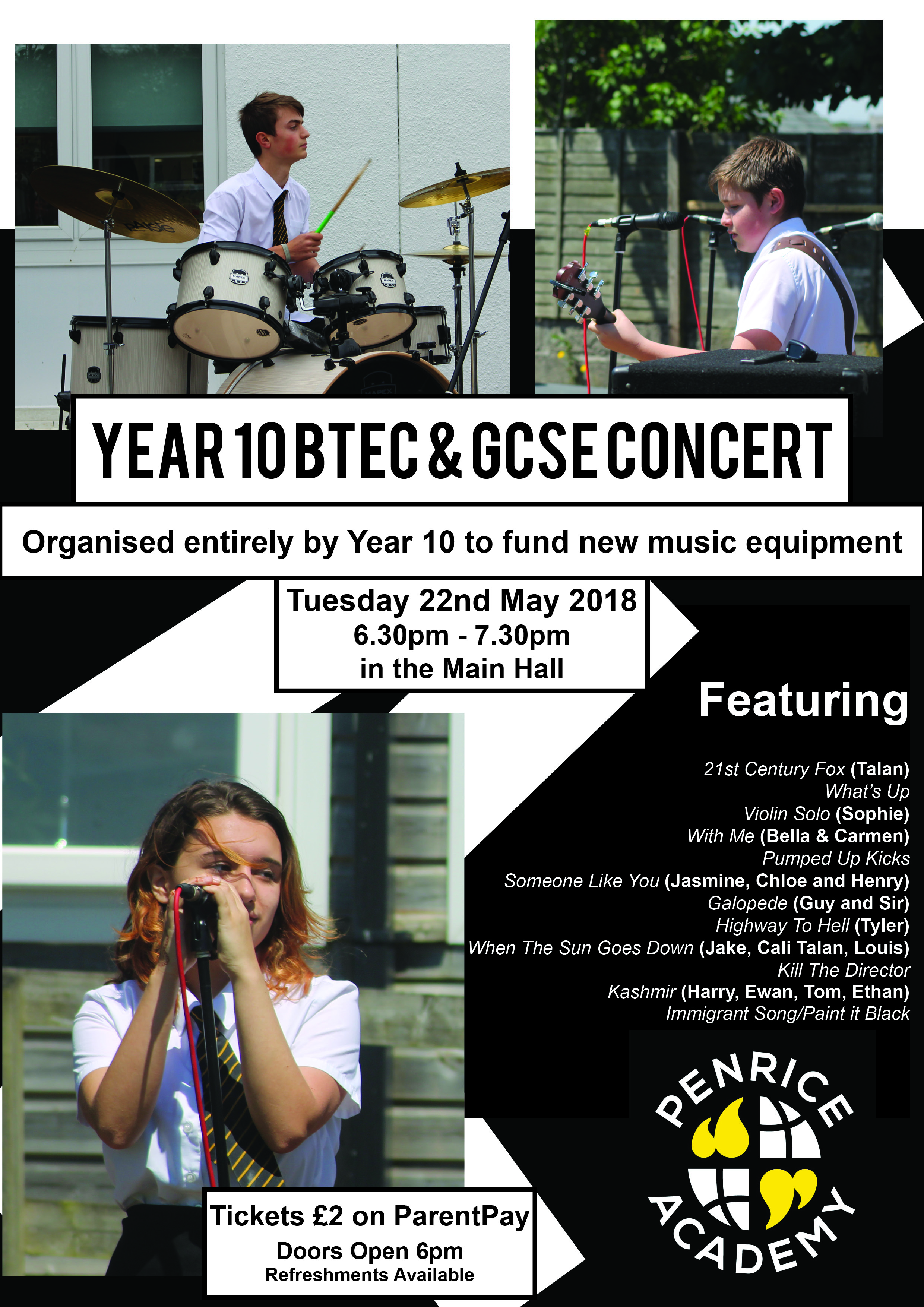 Year 10 Concert Poster Final (2) - Penrice Academy