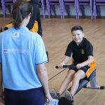 sstudent on rowing machine