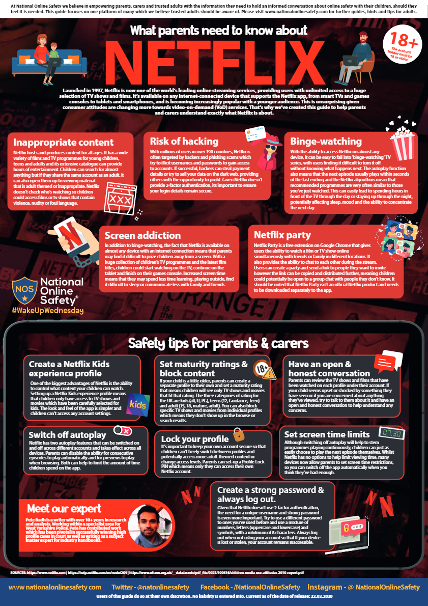 Parents - Don't forget free National Online Safety Weekly Guides available - Penrice Academy